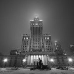 February 2007 The Palace of Culture and Science, Warsaw by night, Poland
