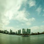 September 2013 Canary Wharf, River Thames, London, UK