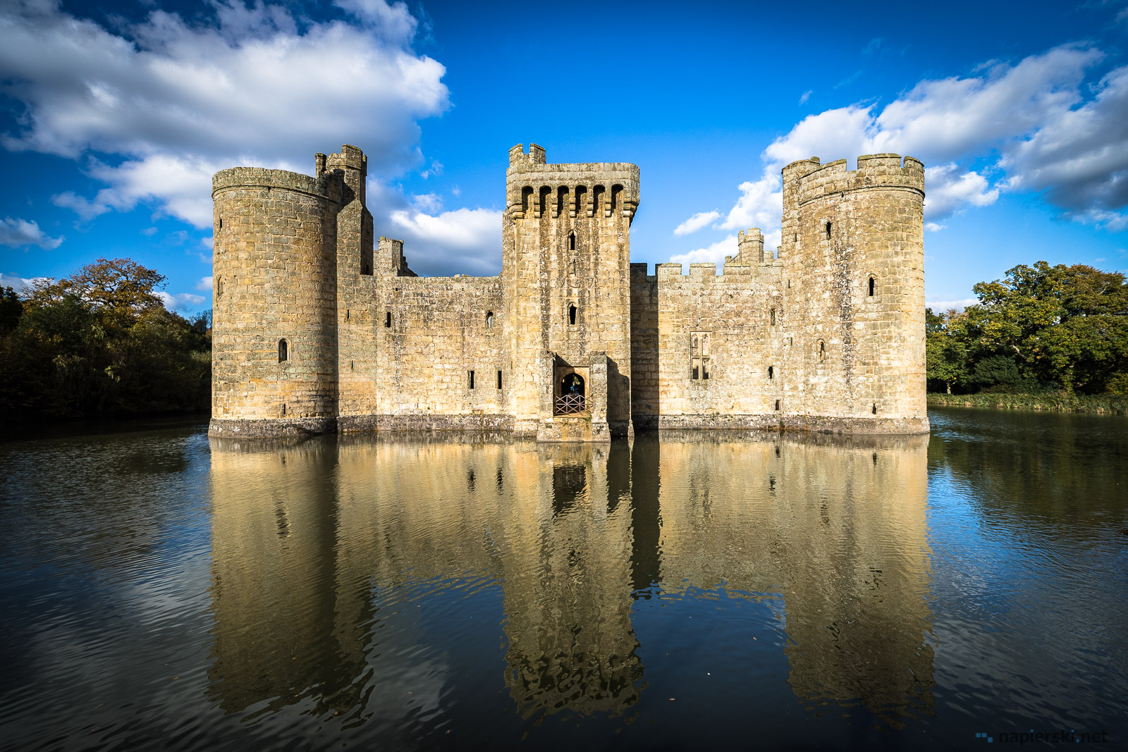 October 2017, Bodiam Castle, Robertsbridge, East Sussex, England, UK